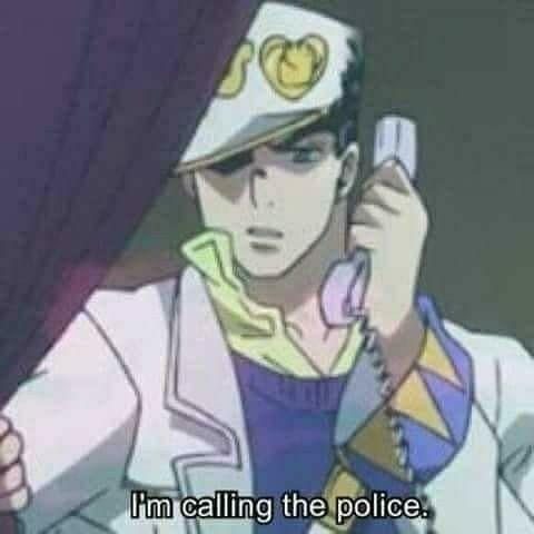 Jotaro Llamando A La Poli In 2020 Jojo Anime Jojo Bizarre Jojo Bizzare Adventure
