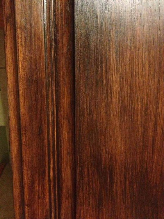 One Coat Gf Java Gel Stain On Honey Oak Cabinets By The