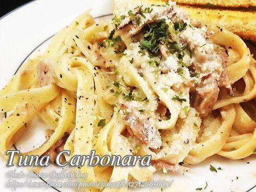 Tuna Carbonara Recipe Panlasang Pinoy Meaty Recipes Recipe Carbonara Recipe Tuna Carbonara Recipe Seafood Recipes