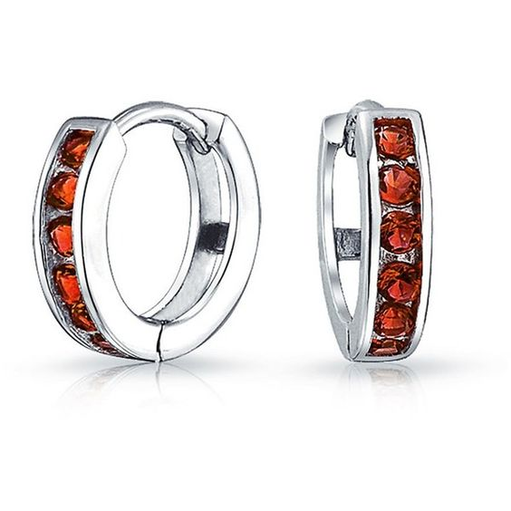 Bling Jewelry Christmas Gifts Bling Jewelry 925 Sterling Silver Color... ($17) ❤ liked on Polyvore featuring jewelry, earrings, red, red cubic zirconia earrings, red earrings, red jewelry, cz jewellery and fake earrings