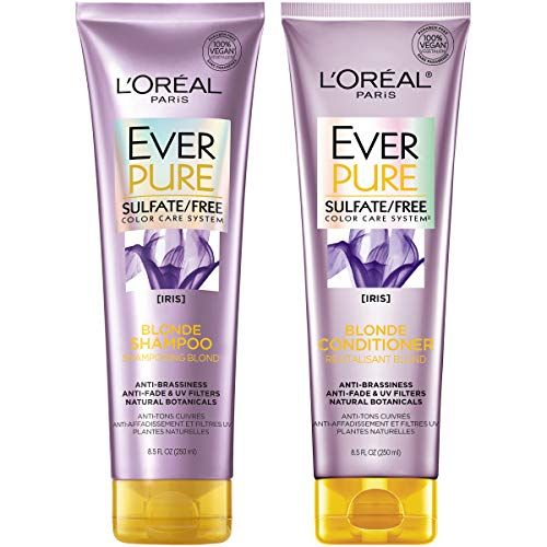 L Oreal Paris Hair Care Everpure Blonde Sulfate Free Shampoo Conditioner Kit For Color Treated Shampoo Free Good Shampoo And Conditioner Sulfate Free Shampoo