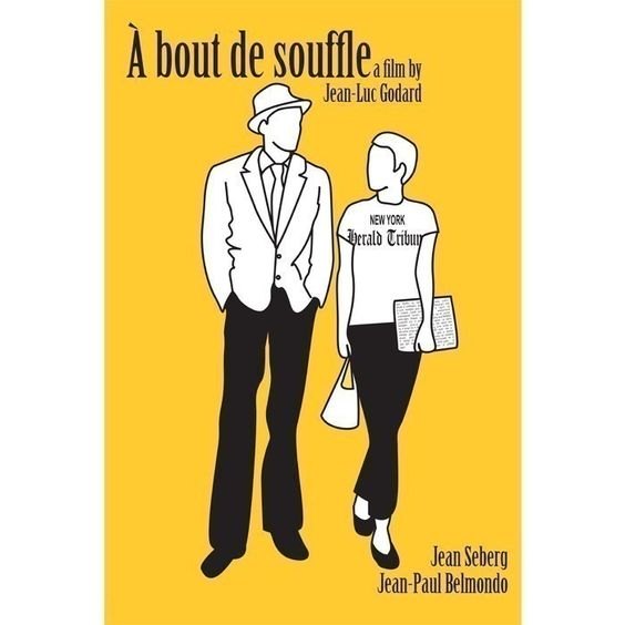 A bout de Souffle, or Breathless poster. £12.00, via Etsy.