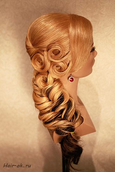 fishtail and pincurls