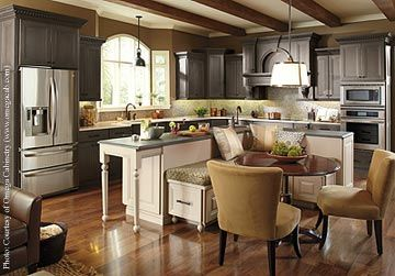 Kitchen islands with booth seating space while also for Booth kitchen island