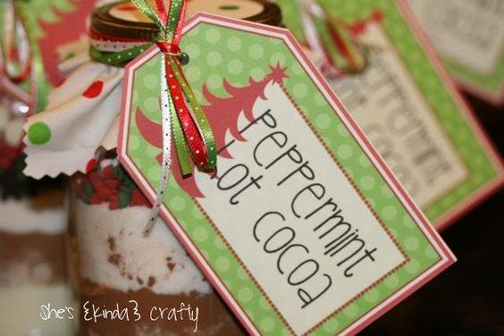 Peppermint Hot Cocoa teacher gift