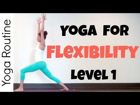 (20 minutes) Yoga for Flexibility Routine - Level 1...**ME: Simple and easy, you hold some poses for a while and its just a nice way to relax.