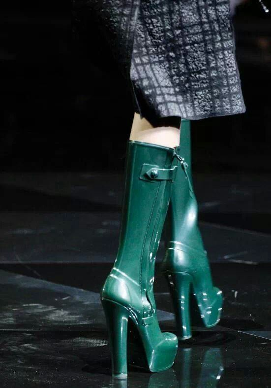 OMG High Heel Rain Boots... I Love These <3 | High Heel Rain Boots ...