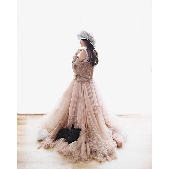 @fensoong wearing our tulle skirt   Photo by: @hernacartriene   Hat by: @axioologie   #provocatebymeltatan #design #gown #dress #tulle #rosegold #long #skirt #texture #pastel #beautiful #photo #photooftheday #pic #lady #instagood #rent
