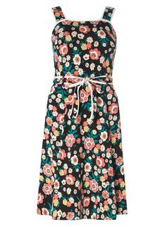 **Tall black retro tip sundress