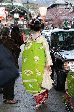 Darari obi of Tama okiya (Gion Kobu)