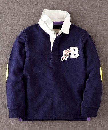 Take a look at this Navy Rugby Shirt - Infant, Toddler & Boys by Mini Boden on #zulily today!