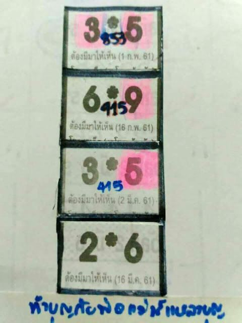 Thai Lotto Lucky Number