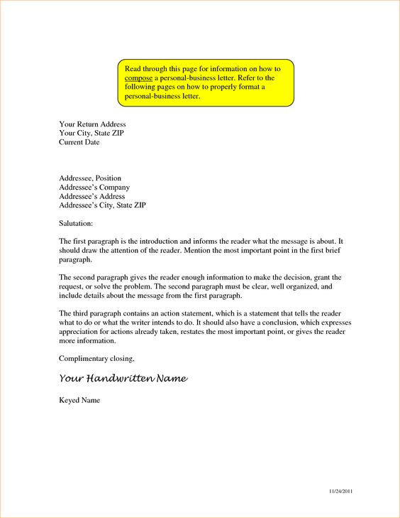Addressing Business Letter Proposal Templated Address Format How