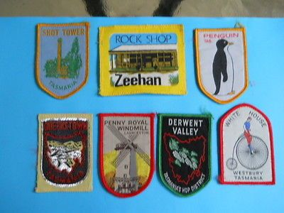 7 Old Souvenir Cloth Patches from Tasmania for $9.00 • sold $9.00