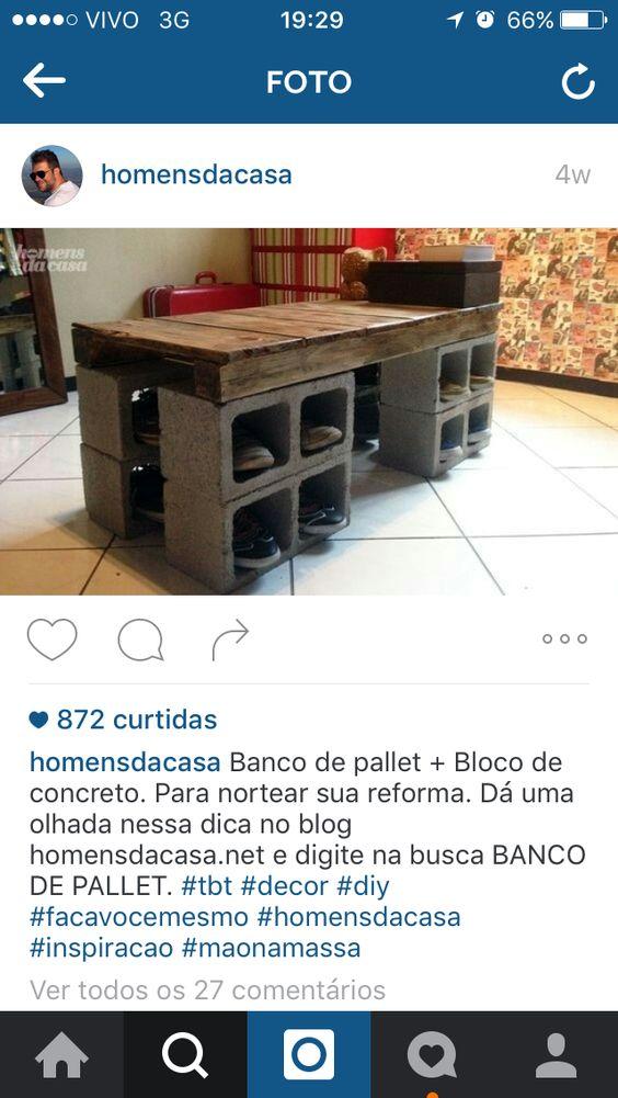 #mesa #banco #bloco #palet