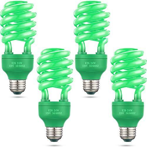 4 Pieces 24 W Spiral Light Bulb 120 V E26 Spiral Replacement Bulbs Christmas Halloween Light Bulbs Parties Decorative I Halloween Lights Light Bulbs Light Bulb