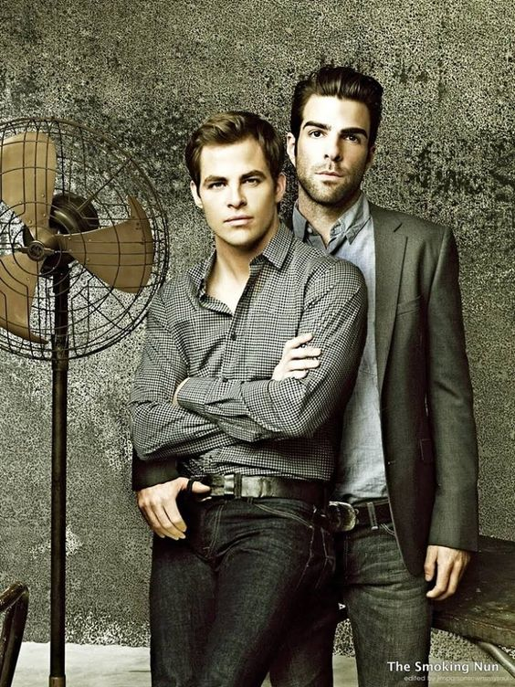 Chris pine & zachary quinto bromance <3 love these two! #spock #kirk
