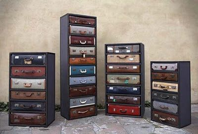 Suitcase drawers.  Schwing.