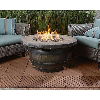 Vineyard Propane Fire Table - Big Heat, Hot Look