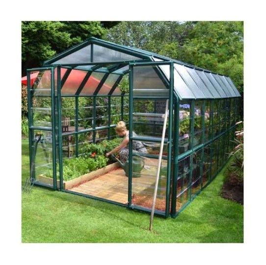 Serre De Jardin En Polycarbonate Rion Grand Gardener 13 72 M Ancrage Au Sol Oui Longueur 5 14 M Palram Garden