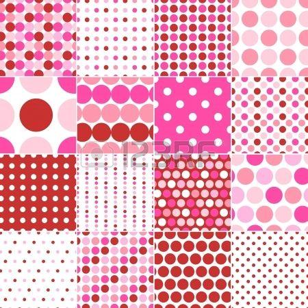 seamless polka dots print  Stock Vector