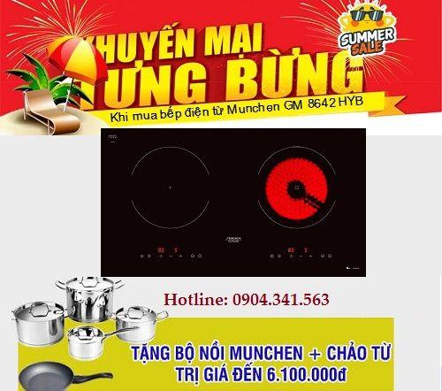 Khuyến mại mới nhất khi mua bếp điện từ Munchen GM 8642 HYB
