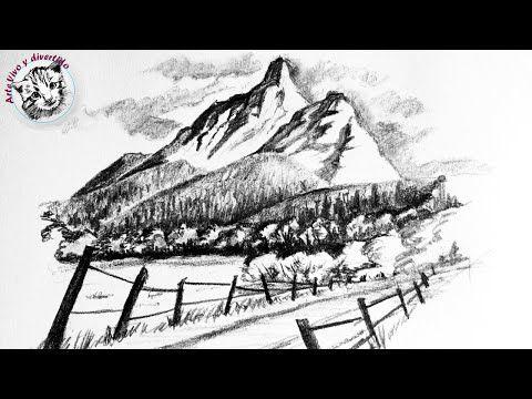 319 Como Dibujar Un Paisaje Facil A Lapiz Con Montanas Y Bosques Paso A Paso Youtube Bosques Para Dibujar Tecnicas De Dibujo Cosas Dificiles De Dibujar