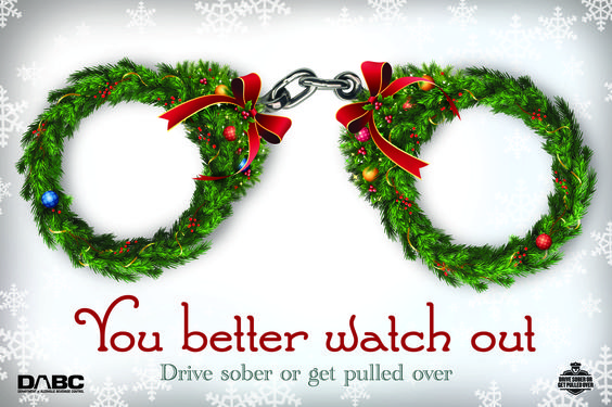 Keep the holidays happy -- designate a sober driver, call a cab or a sober friend, just don't drink and drive. http://drivesober.org:
