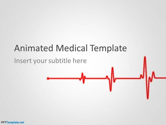 Free Animated Medical PPT Template Illustration Pinterest - heart rate chart template