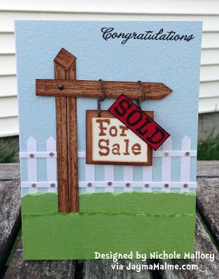 Playing with Paper: CTMH Scrapbooks, Cards & DIY: Fun News + House for Sale/SOLD Card
