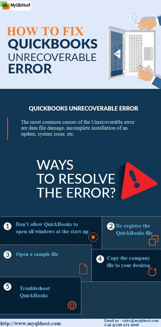 QuickBooks Hosting - Quickbooks Unrecoverable Error