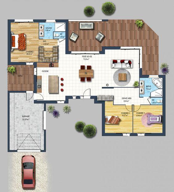 constructeur maison contemporaine st gilles croix de vie vendée 85 - Construire Sa Maison Plan