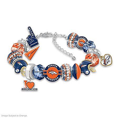 Fashionable Fan Denver Broncos NFL Charm Bracelet