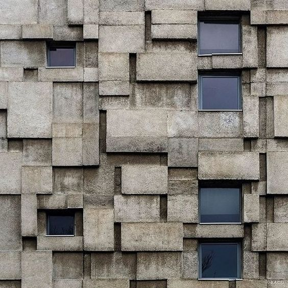 Public utilities building for telephone and postal services, Cluj-Napoca, Romania, built between 1966-69, Architect Vasile Mitrea (c) BACU #socialistmodernism