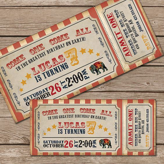 Carnival Ticket Invitation is beautiful invitation template