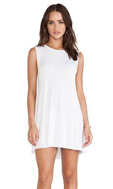 Michael Lauren Gilly Sleeveless Dress in White