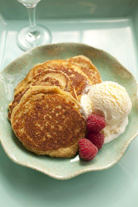 Gluten Free Maple Syrup Johnnycakes with Ice Cream