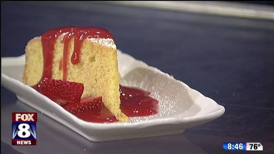 FOX 8 Recipe Box: Sweet corn cake with berry sauce
