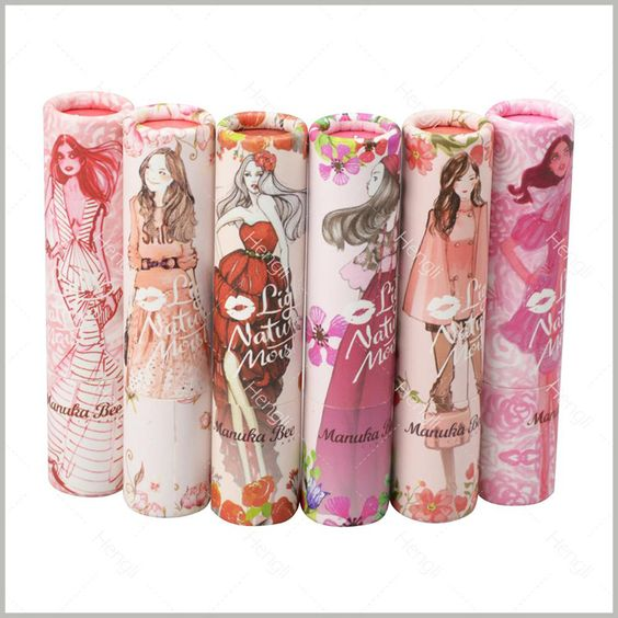 Cute Style Cylinder Packaging With Beauty Girl As The Main Element Of The Packaging Design Pattern
