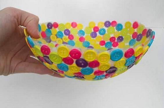 Fabriquer un bol avec des boutons trucs et bricolages - Truc et bricolage ...