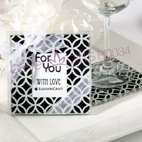 300pcs frete grátis = 150box Brasília Ligações Design Coaster Set BD034 # # weddingsouvenirs beterwedding