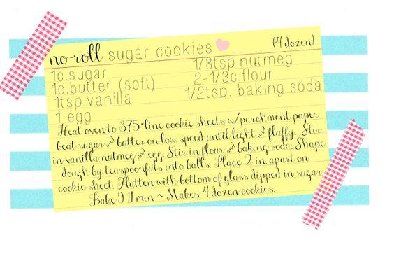sugar cookie recipe and a little bit of kitchen love ... ?