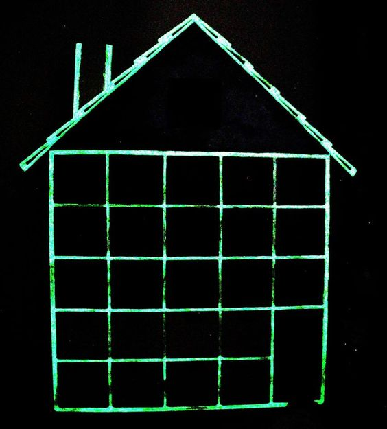 Let it GLOW!!!!!  Messing about with Glow in the Dark Paint :) Advent calendar - work in progress!  https://www.etsy.com/il-en/listing/109220822/on-sale-wooden-advent-calendar-diy?ref=listing-shop-header-2