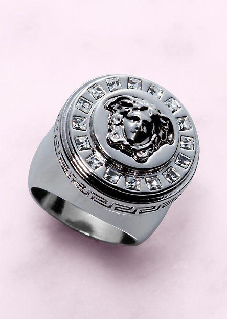 "Versace YUM ""Icon"" Medusa Ring Men jewelry Pinterest"
