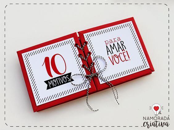 Diy Album Scrapbook 10 Motivos Para Amar Voce Com Imagens