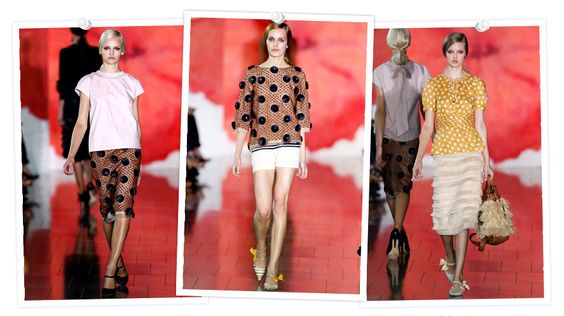 Tory burch-Spring runway collection.