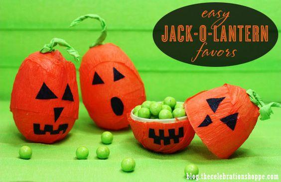 Easy Jack-O-Lantern Favors & FREE Halloween Printables