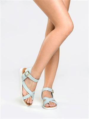 Qupid DALE-05 Crisscross Toe Sandal -
