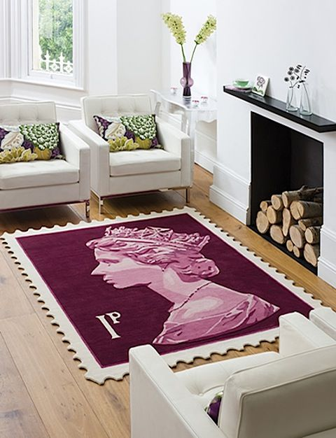 Royal Mail 1st class stamp rug