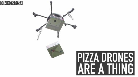 In the future, drones could deliver your pizza.  Domino's will soon start testing out drone-based pizza deliveries in New Zealand.  The famous pizza chain partnered with Flirtey, a drone delivery startup to make the plan happen.